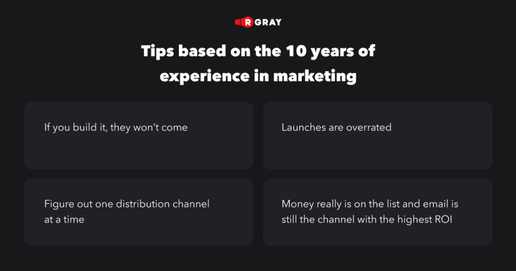 Andrea Bosoni posted 10 tips based on the 10 years of experience in marketing