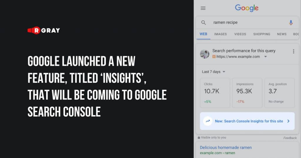 Google launched a new feature, titled 'Insights'
