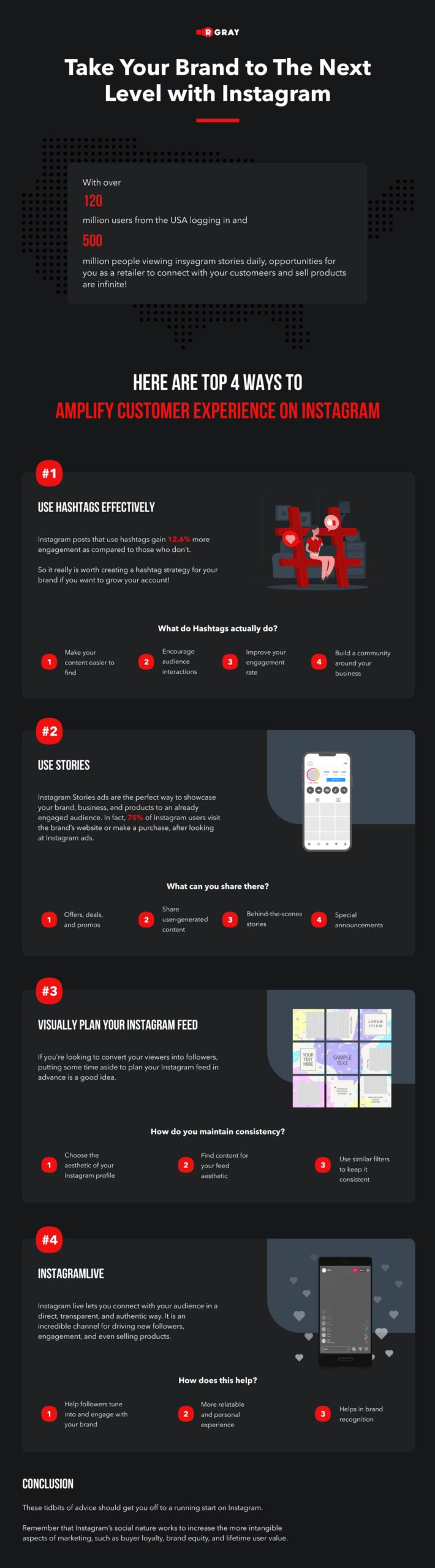 In the infographic, we'll show you how you can take your e-commerce brand on Instagram to the next level.
