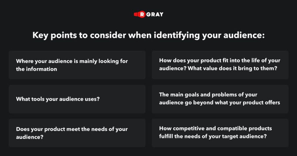 Key points to know about your audience