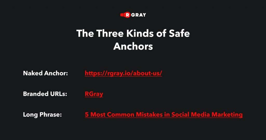 Kinds of Safe Anchors