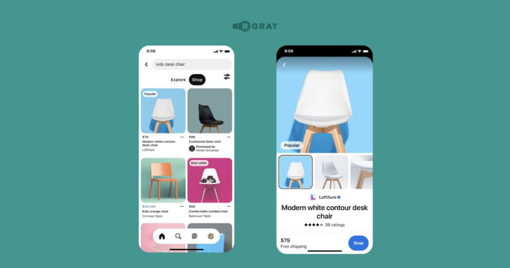 Pinterest tests out some product label features.