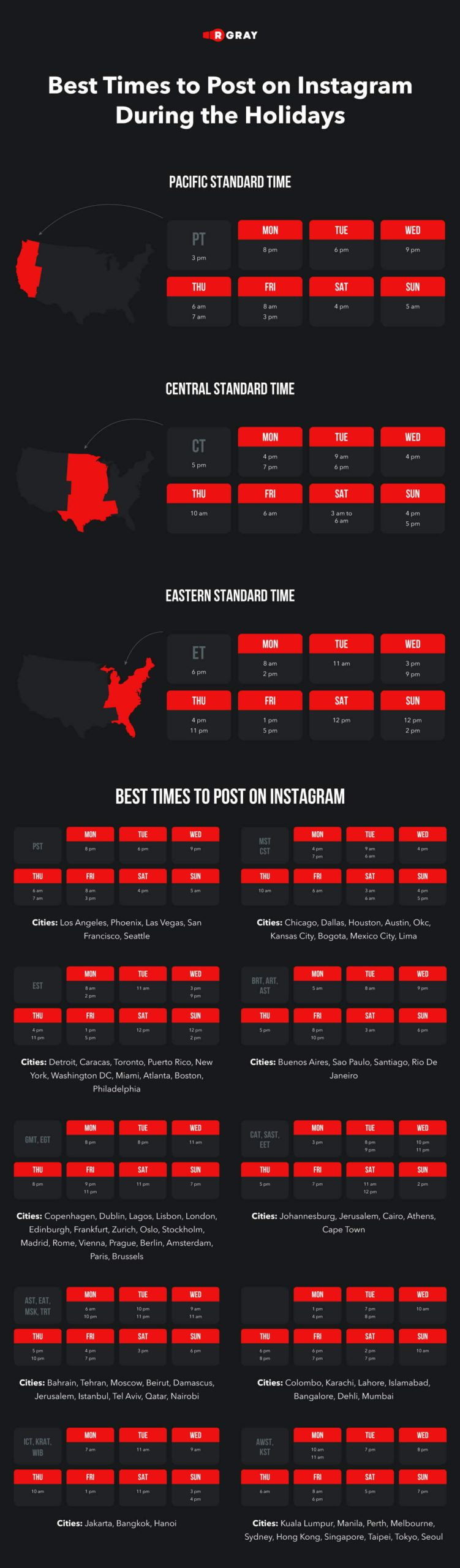 The Best Times to Post on Instagram During the Holidays [Infographic]