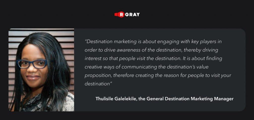 about destination marketing