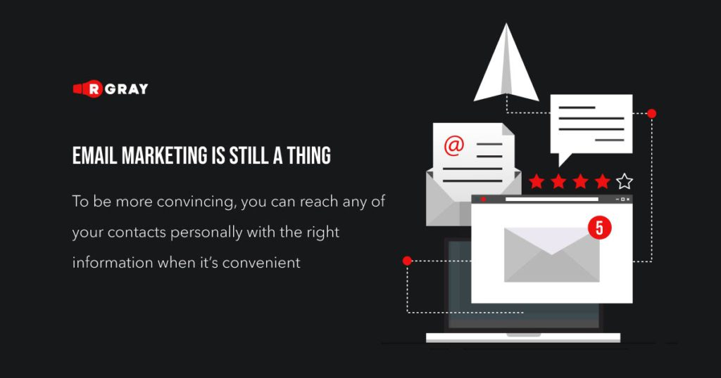 email marketing is still a thing to be more convincing you can reach any of your contacts personally with the right information when its convenient