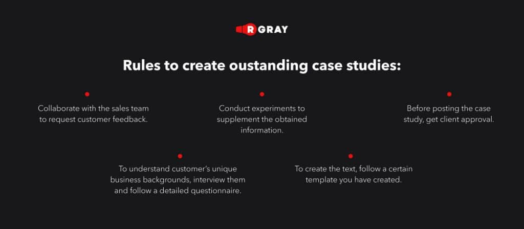 rules to create oustanding case studies