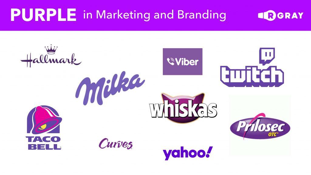Purple in Marketing and Branding