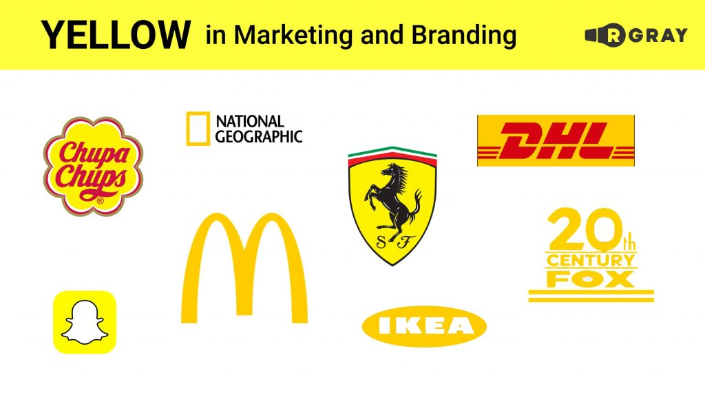 Yellow in Marketing and Branding