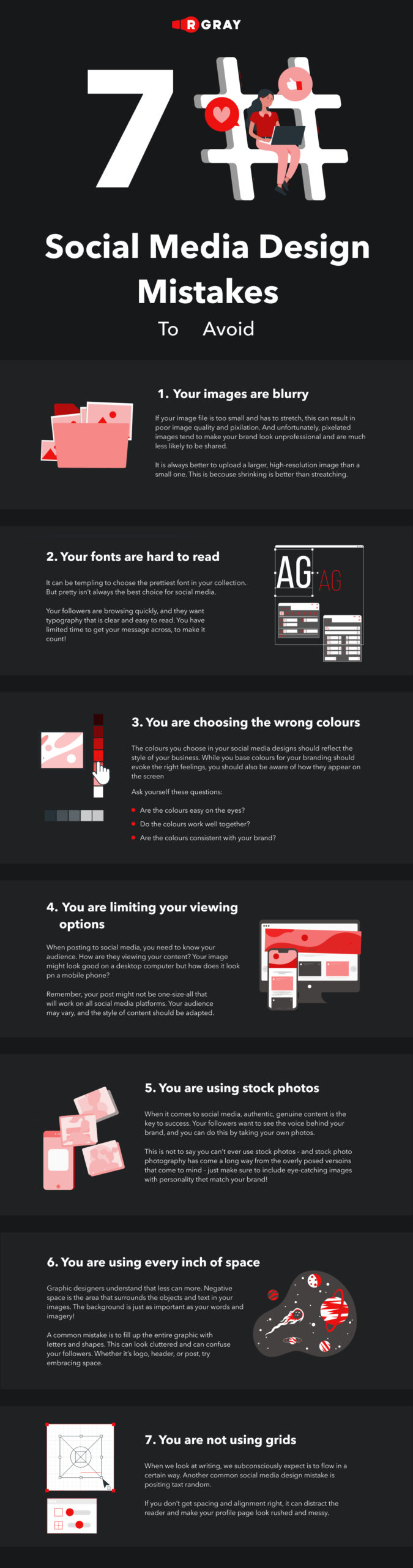 7 Social Media Design Mistakes That All Marketers Need to Avoid [Infographic]
